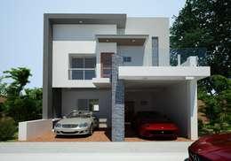 Nhà gia đình by OLLIN ARQUITECTURA