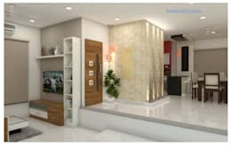 Project in Bachupally @ Praneeth Antilia to Peter: asian Living room by shree lalitha consultants