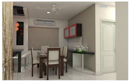 Project in Bachupally @ Praneeth Antilia to Peter: asian Dining room by shree lalitha consultants