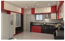 Project in Bachupally @ Praneeth Antilia to Peter:  Kitchen units by shree lalitha consultants