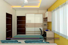 PROJECT @ KUKATPALLY: asian Bedroom by shree lalitha consultants