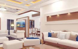 PENTHOUSE DESIGNS: asian Living room by shree lalitha consultants