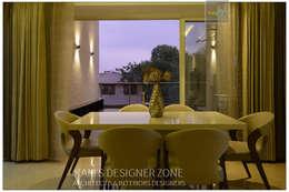 Dining Area Interior Design: classic Dining room by KAM'S DESIGNER ZONE