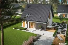 سنگل فیملی گھر by Pracownia Projektowa ARCHIPELAG