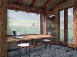 Projekty,  Korytarz, przedpokój zaprojektowane przez architetto Croletto Chiara