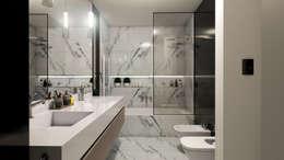 Casa D+T - RESIDENCIA PERMANENTE: Baños de estilo moderno por D'ODORICO OFICINA DE ARQUITECTURA