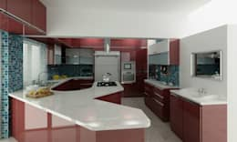 Mr. Fazal 's Home Interior Design: modern Kitchen by Walls Asia Architects and Engineers
