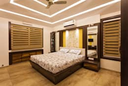 Interiors of Bunglow: asian Bedroom by Spacecraftt Architects