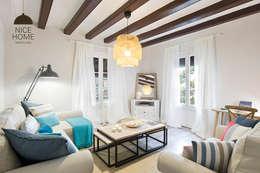 Proyecto Ramblas: Salones de estilo mediterráneo de Nice home barcelona