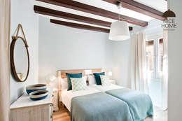 Proyecto Ramblas: Dormitorios de estilo mediterráneo de Nice home barcelona