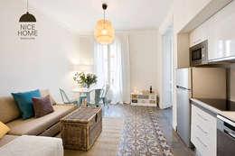 Projekty,  Jadalnia zaprojektowane przez Nice home barcelona