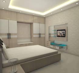 Master Bed Room: modern Bedroom by URBAN HOSPEX INTERIORS