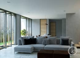Rumah Tinggal Kontemporer:  Ruang Keluarga by Kalytera Studio