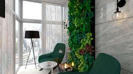 Jardines de invierno de estilo minimalista por Студия NATALYA SOLNTSEVA Interiors Design