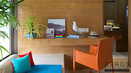 study table: modern Study/office by ZERO9