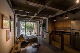 EDIFICIO 80 - 19: Habitaciones de estilo moderno por PLANTA BAJA ESTUDIO DE ARQUITECTURA