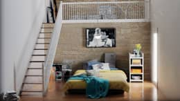 غرفة نوم تنفيذ Modellazione-3d.it