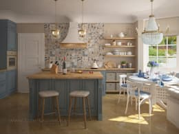 French country interior design: country Kitchen by Tamriko Interior Design Studio