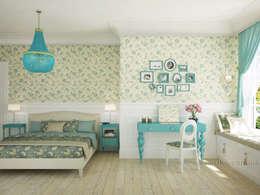 French country interior design: country Bedroom by Tamriko Interior Design Studio