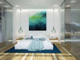 Recámaras de estilo minimalista por Tamriko Interior Design Studio