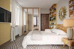 Dormitorios de estilo ecléctico por Студия архитектуры и дизайна Дарьи Ельниковой