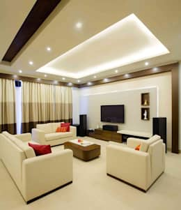 3BHK_ Mr.Narayana Rao_ Parrys Interior Decoration_ Site photos: modern Living room by Arcmen kitchens And Interiors
