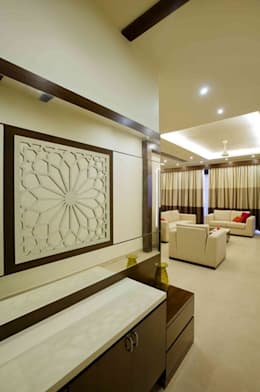 3BHK_ Mr.Narayana Rao_ Parrys Interior Decoration_ Site photos:  Corridor & hallway by Arcmen kitchens And Interiors