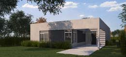 Render fachada (prueba de color): Casas de estilo moderno por KorteSa arquitectura