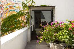 Jardines en la fachada de estilo  por Amaria Gonçalves - Design Paisagismo