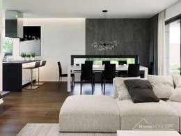 Projekt domu HoemKONCEPT 43: styl , w kategorii  zaprojektowany przez HomeKONCEPT | Projekty Domów Nowoczesnych