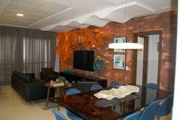Living: Salas de estar modernas por Costa Lima Arquitetura Design e Construções Ltda