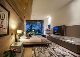 Recámara Principal: Recámaras de estilo moderno por Eduardo Gutiérrez Taller de Arquitectura