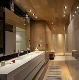 Baño Principal: Baños de estilo  por Eduardo Gutiérrez Taller de Arquitectura