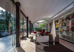 Biblioteca : Estudios y oficinas de estilo moderno por Eduardo Gutiérrez Taller de Arquitectura