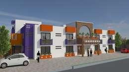 Proyecto para 4 departamentos: Casas de estilo moderno por AH Proyectos y construcciones