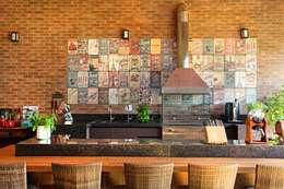 Área Gourmet: Terraços por Célia Orlandi por Ato em Arte