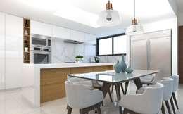COCINA: Cocinas de estilo minimalista por SEZIONE
