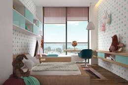 minimalistic Nursery/kid's room by Tobi Architects