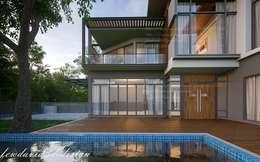 บ้านพักอาศัย2ชั้น อ.เมืองสกลนคร จ.สกลนคร :  บ้านและที่อยู่อาศัย by fewdavid3d-design
