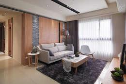 asian Living room by 珍品空間設計 | JP SPACE  DESIGN STUDIO