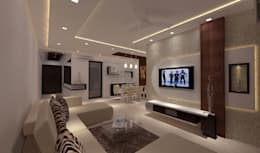 Mr. Dangat: modern Living room by New Space Interior
