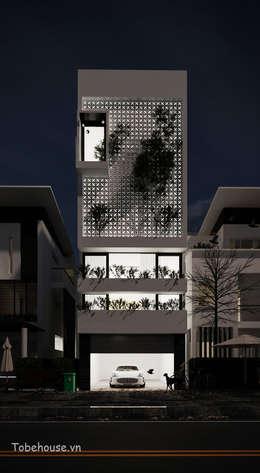 Linh House - Linh Đàm:  Nhà by Công ty cổ phần kiến trúc và nội thất Tobehouse Việt Nam
