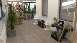 Winter garden: Jardins de Inverno modernos por No Place Like Home ®