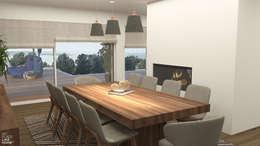 Dining room: Salas de jantar modernas por No Place Like Home ®
