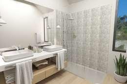 Casa de Banho : Casas de banho modernas por NoPlaceLikeHome ®