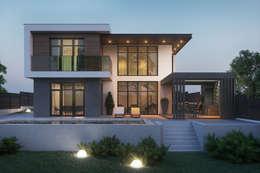 Projekty, minimalistyczne Domy zaprojektowane przez Tobi Architects