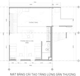 Cải tạo căn hộ Duplex -Lam Sơn - Tân Bình:  Nhà gia đình by Công Ty TNHH Archifix Design