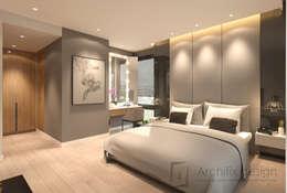 Cải tạo căn hộ Duplex -Lam Sơn - Tân Bình:  Phòng ngủ by Công Ty TNHH Archifix Design