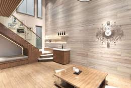 Cải tạo căn hộ Duplex -Lam Sơn - Tân Bình:  Phòng khách by Công Ty TNHH Archifix Design