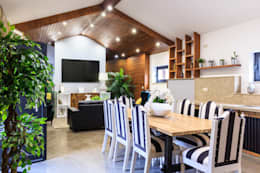 Sala: Salas de jantar rústicas por BENEDITO MARTINS